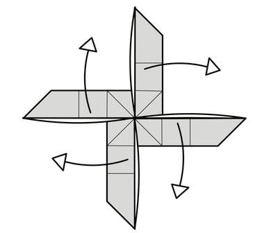 How to fold origami. Origami Helicopter - Step 30