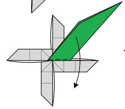 How to fold origami. Origami Helicopter - Step 37