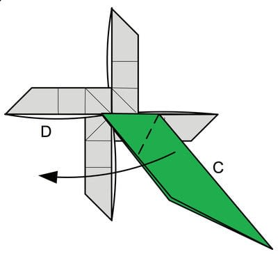 How to fold origami. Origami Helicopter - Step 38