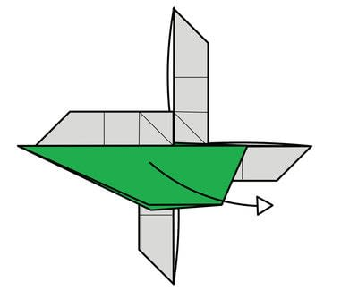 How to fold origami. Origami Helicopter - Step 39