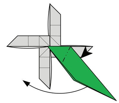 How to fold origami. Origami Helicopter - Step 40