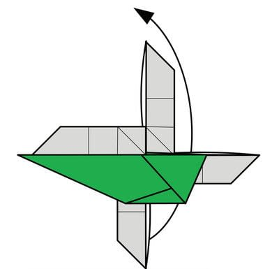 How to fold origami. Origami Helicopter - Step 41