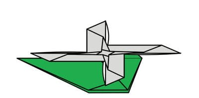 How to fold origami. Origami Helicopter - Step 42