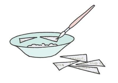 How to make a piece of book art. Mushrooms & Ferns - Step 2