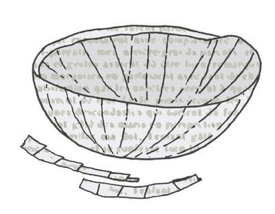 How to make a piece of book art. Mushrooms & Ferns - Step 6