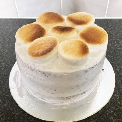 How to bake a chocolate cake. How To Make A Flaming S'mores Cake  - Step 5