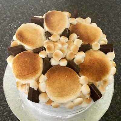 How to bake a chocolate cake. How To Make A Flaming S'mores Cake  - Step 6