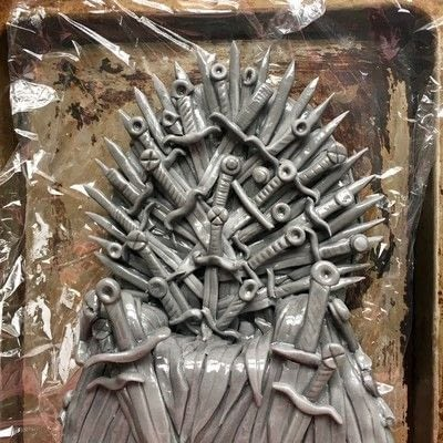 How to decorate a novelty cake. How To Make An Edible Iron Throne Cake Topper - Step 6