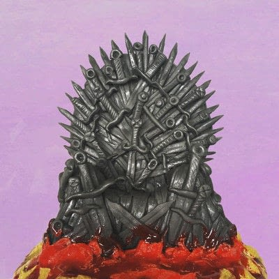 How to decorate a novelty cake. How To Make An Edible Iron Throne Cake Topper - Step 7