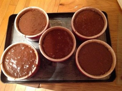 How to bake a souffle. Chocolate Soufflé Cups - Step 4