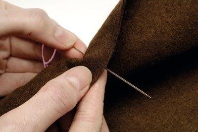 How to stitch . Running Stitch - Step 2