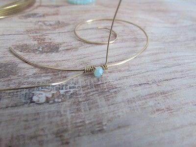 How to make a hoop earring. Embellished Wire Spiral Hoop Earrings - Step 6
