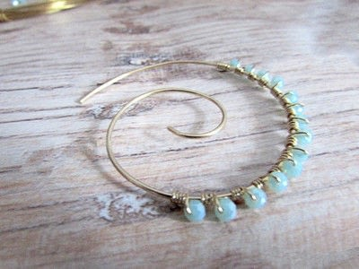 How to make a hoop earring. Embellished Wire Spiral Hoop Earrings - Step 8