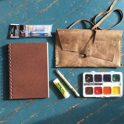 How to paint a piece of watercolor art. Watercolor Travel Journal - Step 1