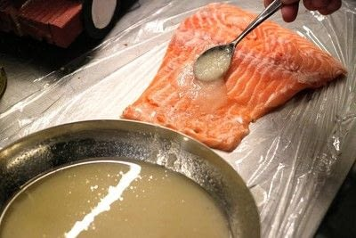 How to cook a poached egg. Whisky Cured Salmon Eggs Royale - Step 7