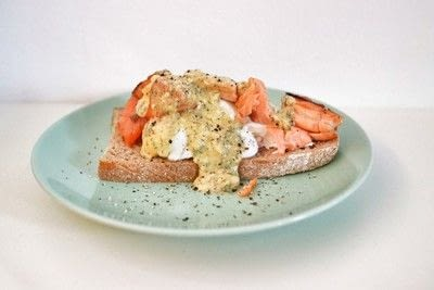 How to cook a poached egg. Whisky Cured Salmon Eggs Royale - Step 17