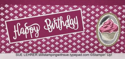 How to make a scrapbook. Happy Birthday Cupcake Scrapbook Page - Step 3