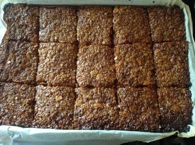 How to bake a flapjack. Almond & White Chocolate Flapjacks  - Step 5