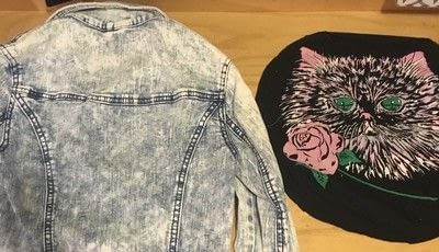 How to make a patches. T-Shirt Graphic Into Back Patch - Step 1