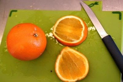 How to make a wreath. Dried Orange Slices - Step 1