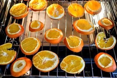 How to make a wreath. Dried Orange Slices - Step 3