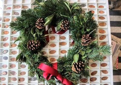 How to make a wreath. Dried Orange Slices - Step 5