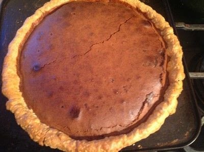 How to bake a chocolate pie. Fudge Chocolate Pie - Step 6