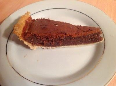 How to bake a chocolate pie. Fudge Chocolate Pie - Step 7