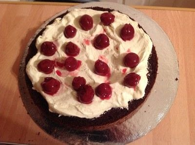 How to bake a Black Forest Cake. Quick Black Forest Gateau  - Step 6
