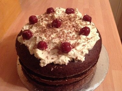 How to bake a Black Forest Cake. Quick Black Forest Gateau  - Step 7