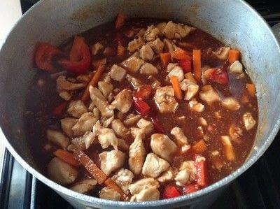 How to cook a chicken dish. Orange Chicken  - Step 4