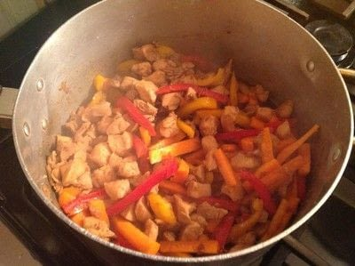 How to cook a chicken dish. Mongolian Chicken  - Step 3