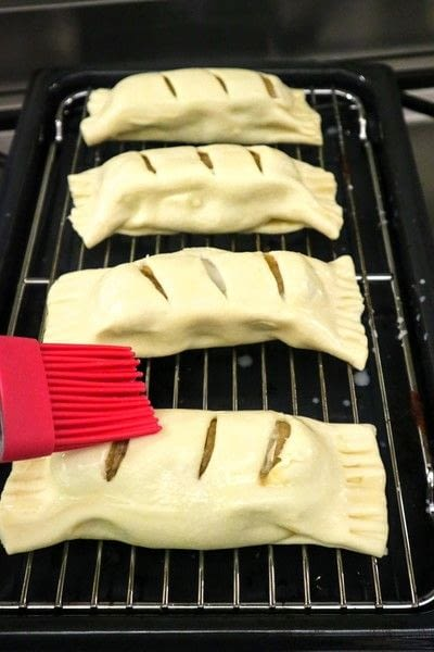 How to cook a sausage roll. Welsh Rarebit Sausage Rolls - Step 8