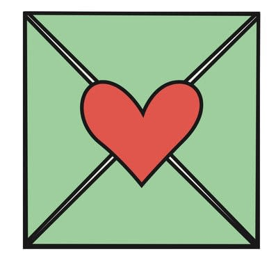 "How to make an envelope. ""Seal It With A Heart"" Valentine - Step 5"