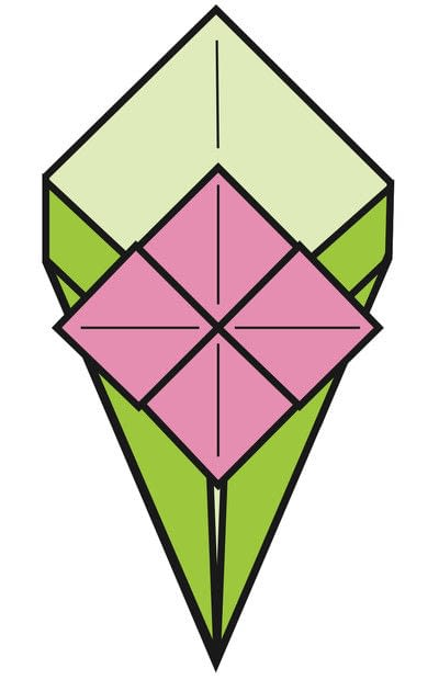How to make an origami flower. Simple Bouquet - Step 12