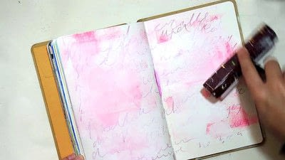 How to make a mixed media. Let Go   Art Journal Tutorial - Step 2