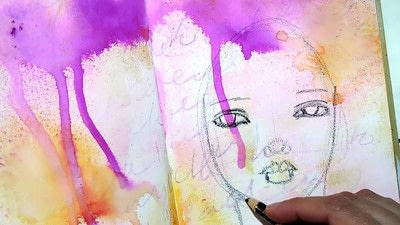 How to make a mixed media. Let Go   Art Journal Tutorial - Step 4