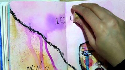 How to make a mixed media. Let Go   Art Journal Tutorial - Step 8