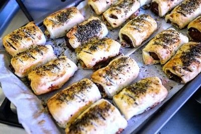 How to cook a sausage roll. Mustard & Cheese Sausage Rolls - Step 6