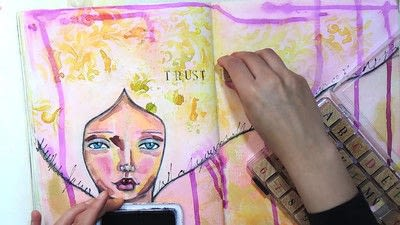 How to make a mixed media. Trust In Love   Art Journal Tutorial - Step 10
