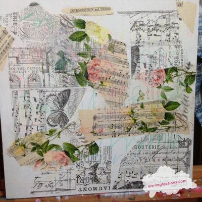 How to make a mixed media. Introduction & Verse   Mixed Media Painting - Step 1
