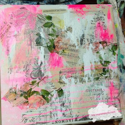 How to make a mixed media. Introduction & Verse   Mixed Media Painting - Step 2
