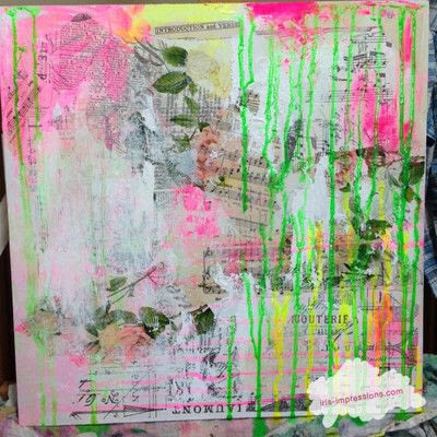 How to make a mixed media. Introduction & Verse   Mixed Media Painting - Step 3