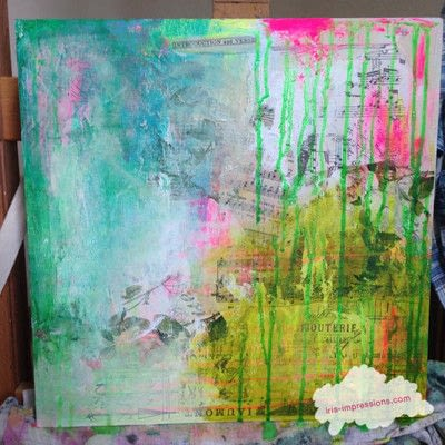 How to make a mixed media. Introduction & Verse   Mixed Media Painting - Step 4