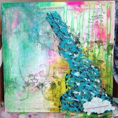How to make a mixed media. Introduction & Verse   Mixed Media Painting - Step 5