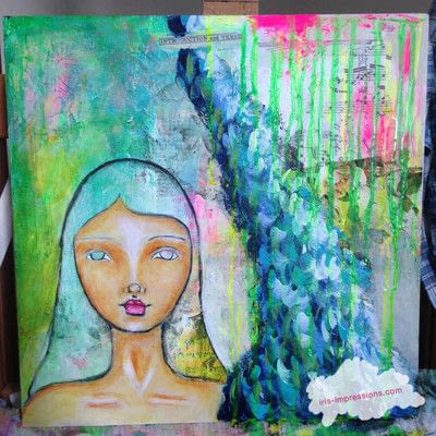 How to make a mixed media. Introduction & Verse   Mixed Media Painting - Step 8