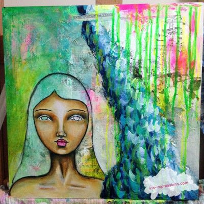 How to make a mixed media. Introduction & Verse   Mixed Media Painting - Step 9