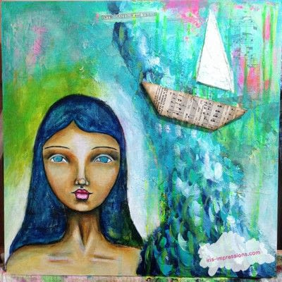 How to make a mixed media. Introduction & Verse   Mixed Media Painting - Step 10