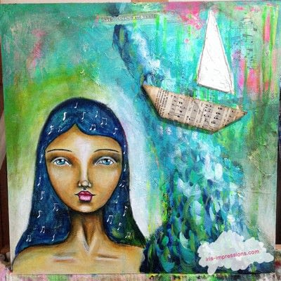 How to make a mixed media. Introduction & Verse   Mixed Media Painting - Step 11