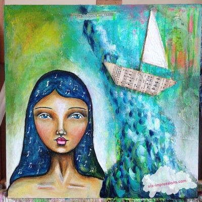 How to make a mixed media. Introduction & Verse   Mixed Media Painting - Step 12